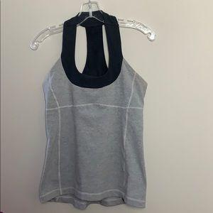 Lululemon grey tank top bra attached